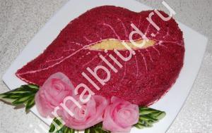 Салат Поцелуй Любовницы рецепт с фото