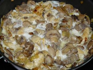 Куриное филе с грибами фото