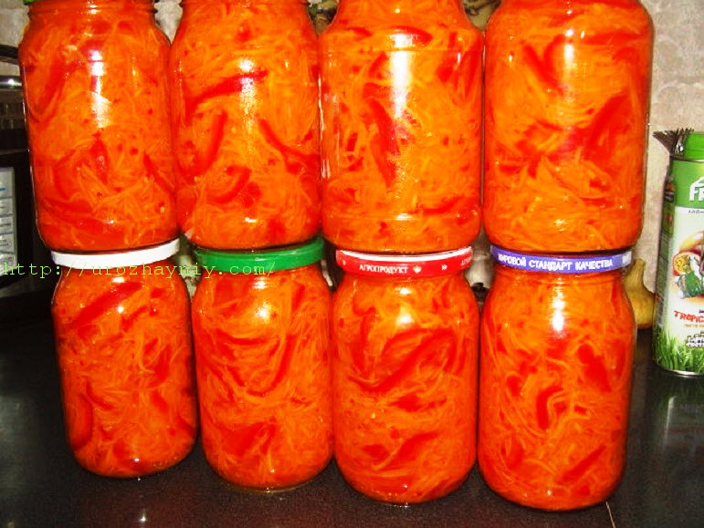Салаты на зиму из моркови рецепты