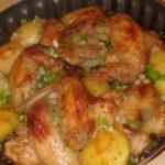 Крылышки с картошкой нравятся всем