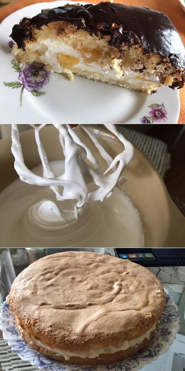Бисквит с нежнейшим творожным кремом1