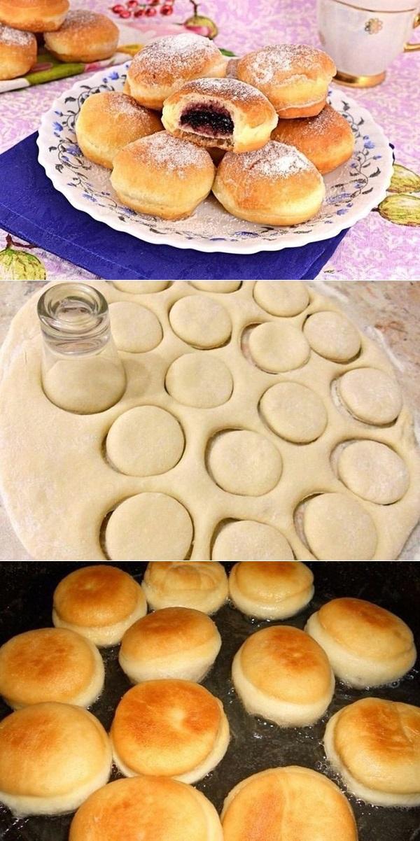 Пончики с начинкой