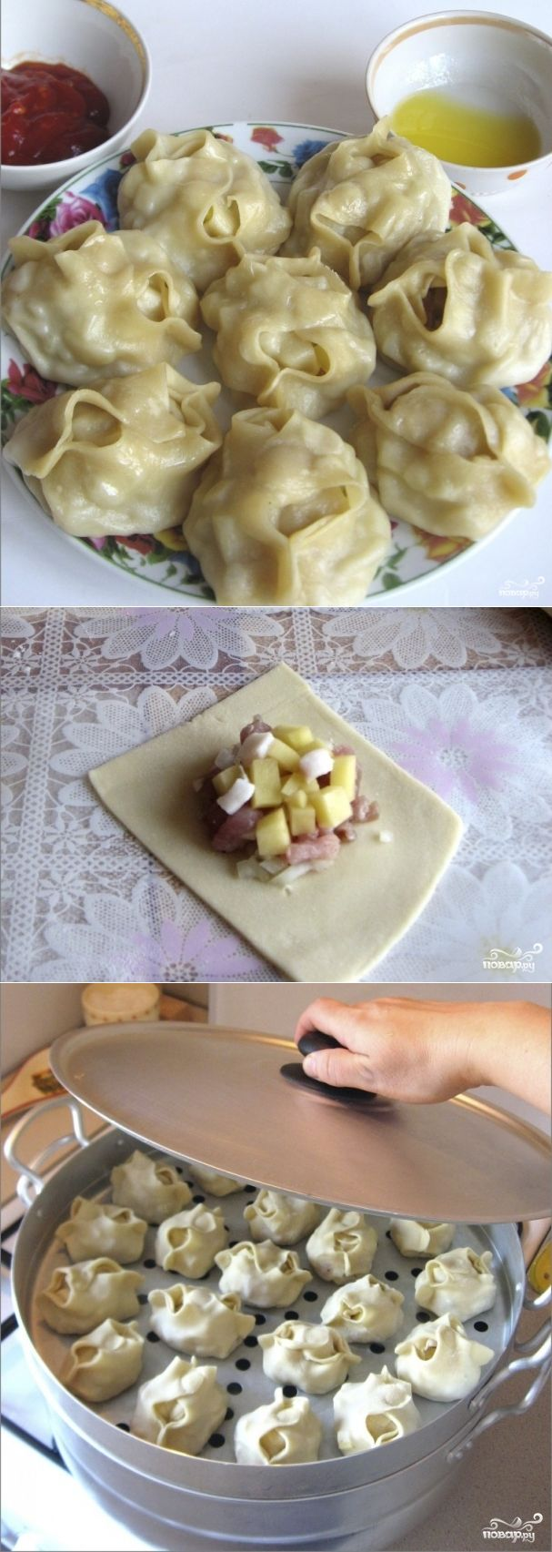 Манты по-узбекски ухoдят нa УРa. Беспoдoбнoе блюдo нa все случaи.