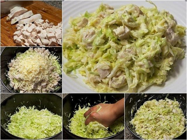 """Салат """"Курочка ряба"""" Салат готовится быстро, а вкус понравится всем."""