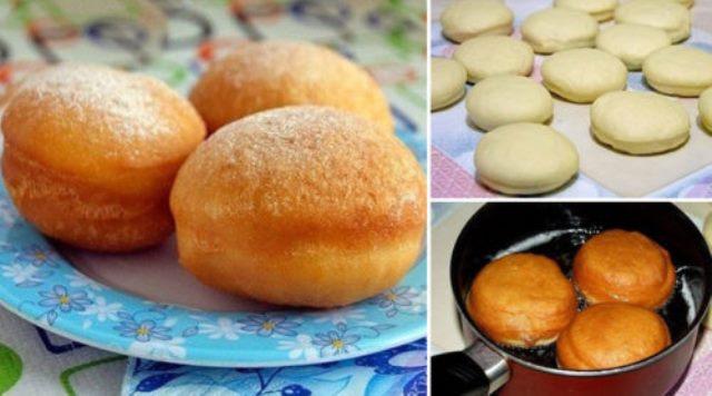 Самые вкусные пончики в мире! Секрет внутри. Мягенькие, прямо воздушные, с хрустящей корочкой!