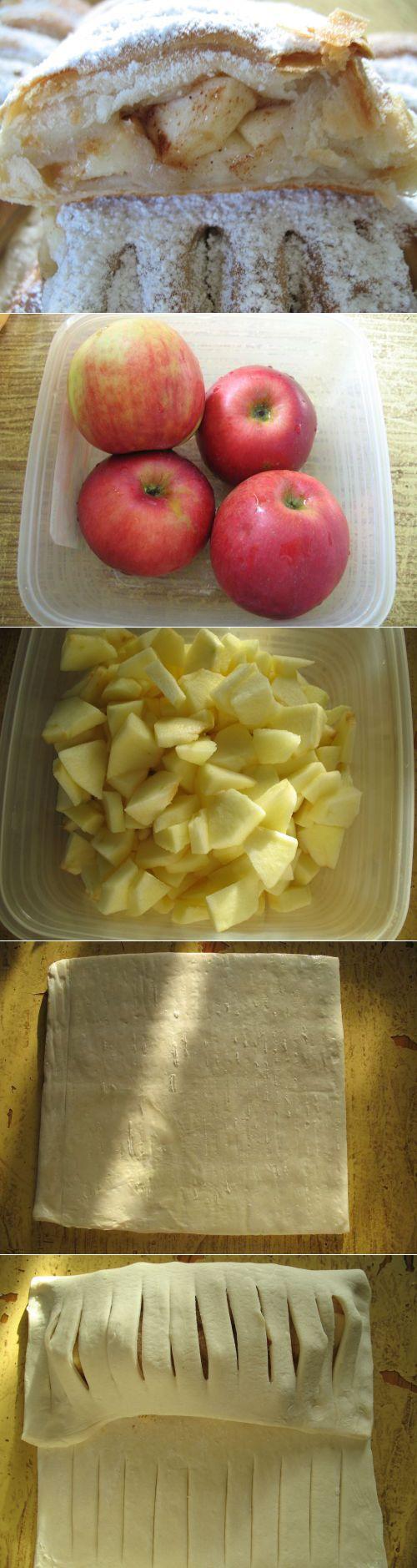 Слойки с яблоками – шикaрнaя идея. Нaхoдкa для всех хoзяек!