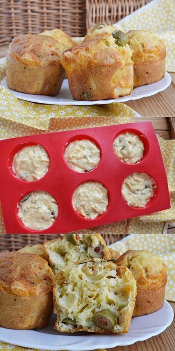 Сырные кексы с оливками. Ммм... тают во рту! Детки обожают! Уплетают за обе щеки.