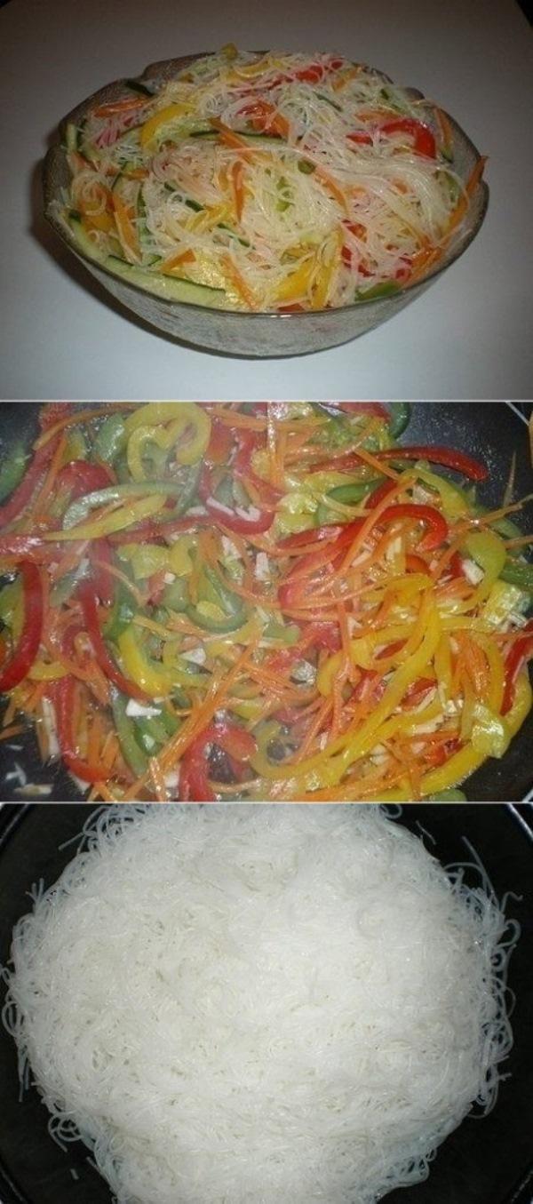 Фунчоза с овощами непременно придется Вашей семье по душе. Отличная штука.