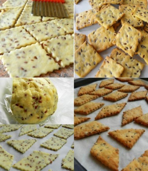 Галетное печенье с семенами льна: вкусное, хрустящее, низкокалорийное! Отличный перекус к чаю на работе.
