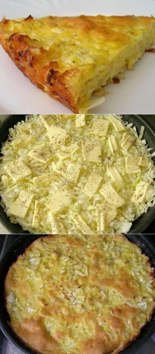 Капустный пирог для ленивых всегда нарасхват! Оочень вкусно! Рецепт проще простого.