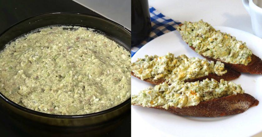 Намазка из селедки - фирменная одесская закуска - старинный рецепт из дореволюционной книги.