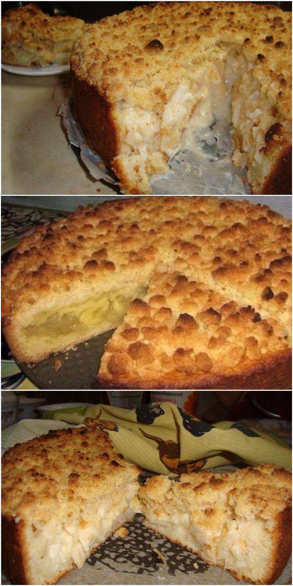 Божественный царский яблочный пирог. Получается просто шедевр! По настоящему — царский!