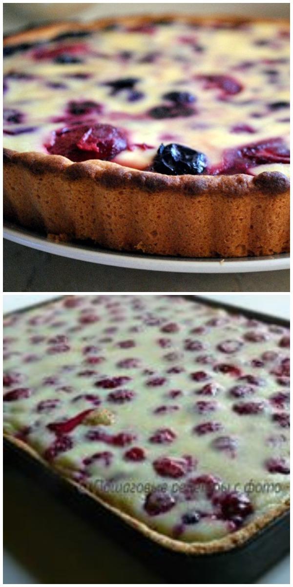 Заливной пирог с ягодами! Рецепт моей бабушки.