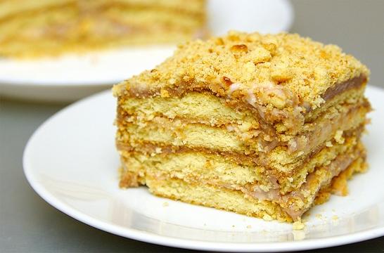 Торт из печенья за 5 минут