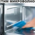 Чистим микроволновку фото