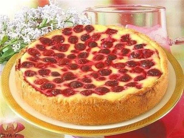 Сметанник с вишнями — самый вкусный пирог в мире