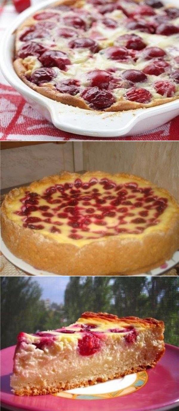 Сметанник с вишнями - самый вкусный пирог в мире