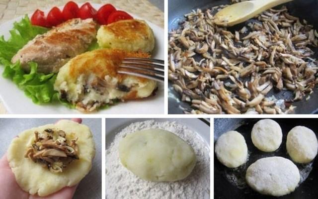 Зразы картофельные с грибами не успевают остыть — их сметают с тарелки. Вкуснотище, отличный ужин!