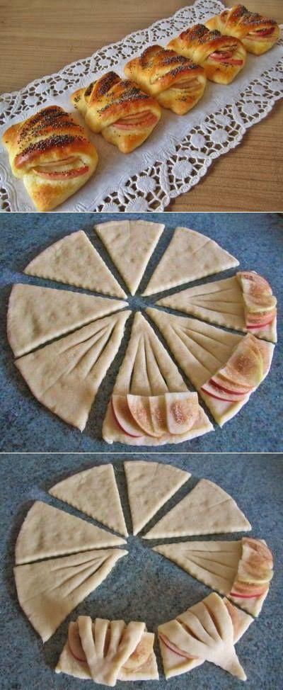Конвертики с яблоками из универсального творожного теста — готовить легко и просто! Рецепт для занятых хозяек.