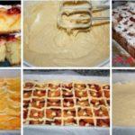 Пирог сливово-персиковый
