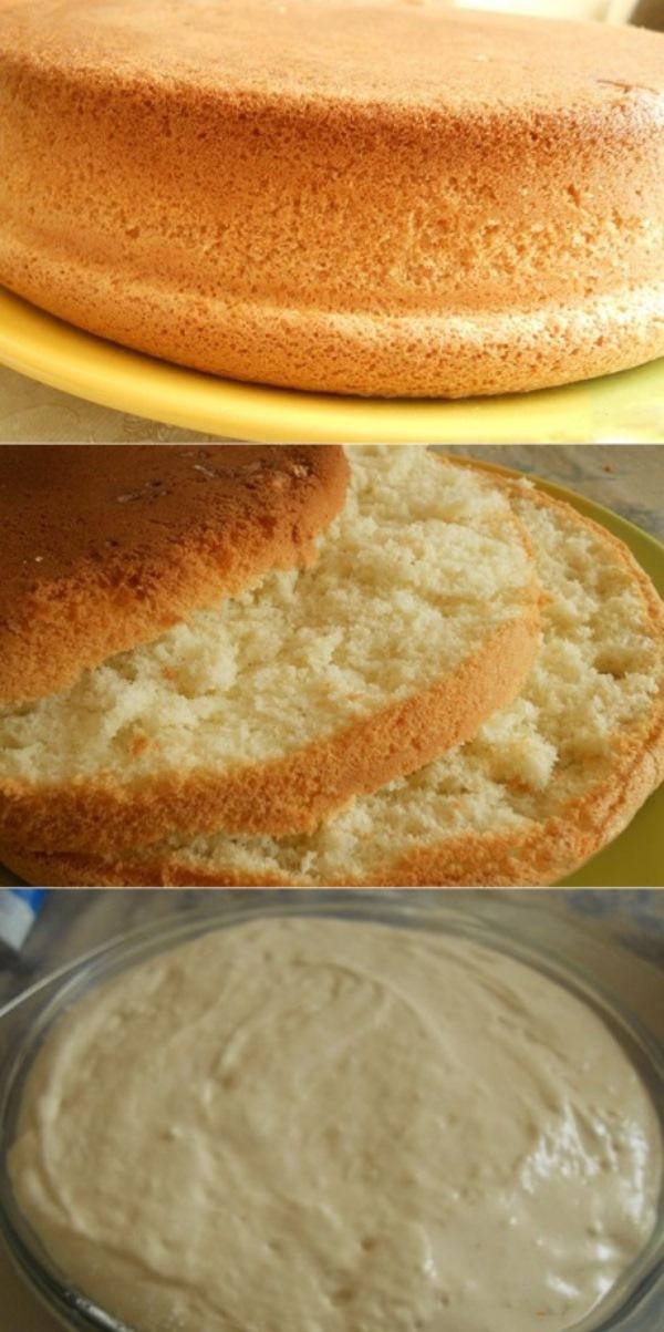 Пышный и воздушный бисквит для тортов! Рецепт на века.
