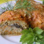 Нежные, вкусные и сытные курино-овощные зразы с грибной начинкой