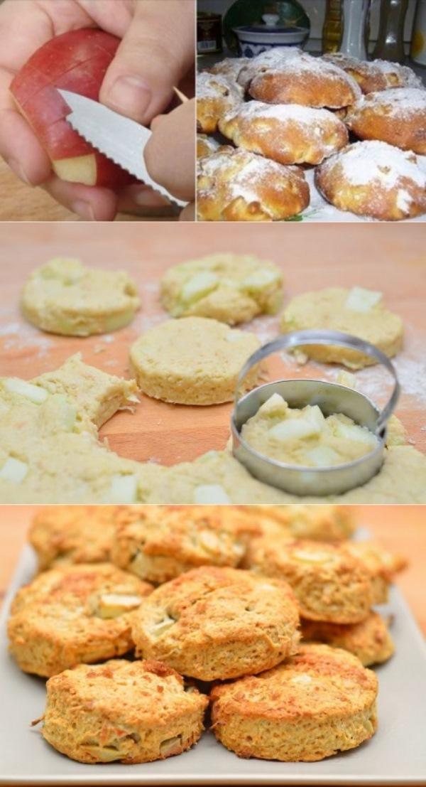 Любимые булочки английской королевы. Ты удивишься, когда узнаешь, насколько прост этот рецепт! Именно такие яблочные сконы я ела в Соединенном Королевстве