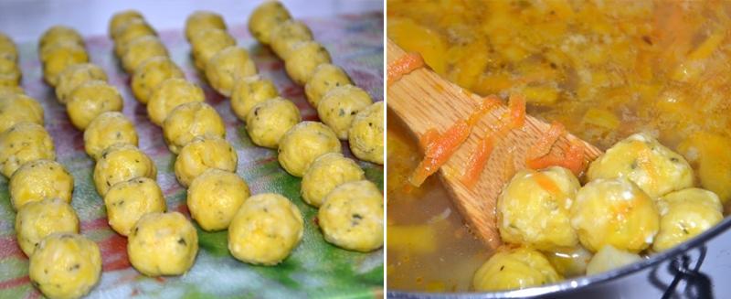 На второй день от супа остается пустая кастрюля: хоть и питательный, но очень легкий. Дети влюбились в эти шарики.
