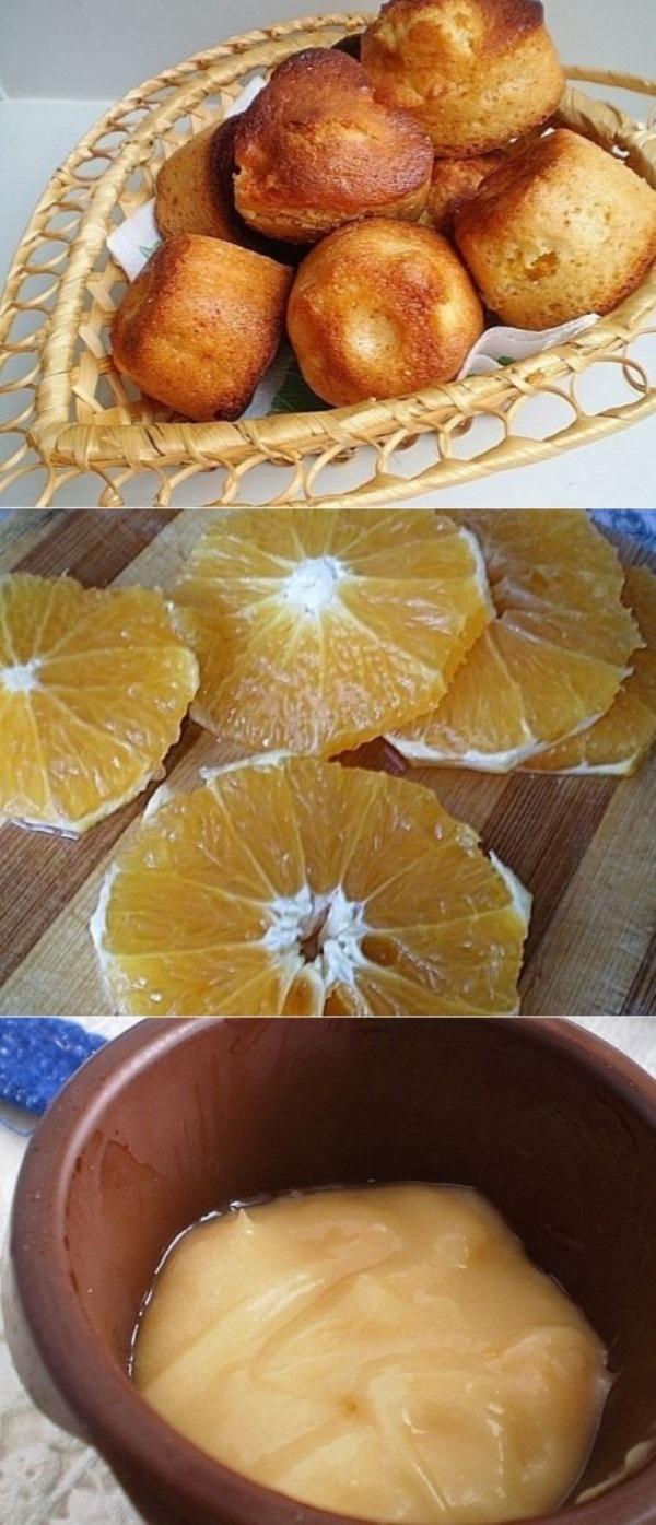 Медовые кексы с апельсином. Просто пальчики оближете! Делаю часто.