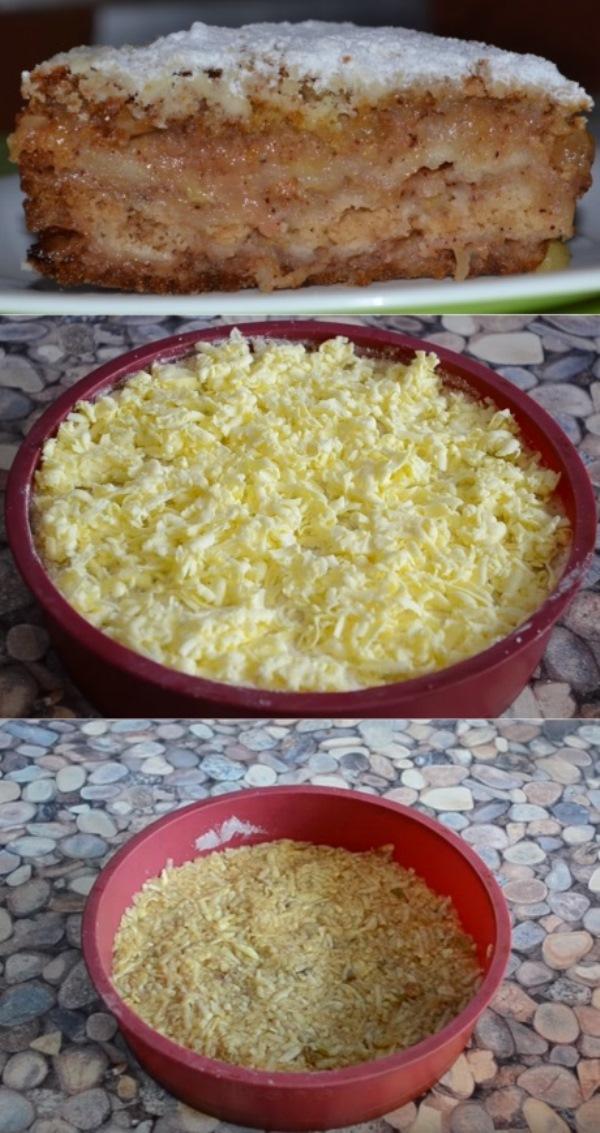 Насыпной яблочный пирог «Три стакана»: простой и вкусный, без молока и яиц! В меру сочный, не приторный, с кислинкой.