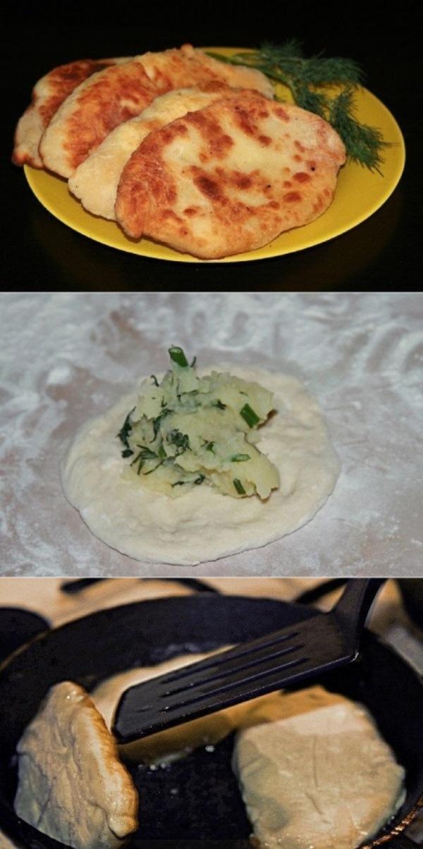 Потрясающе вкусные пирожки-лепешки с картошкой и сыром, на приготовление у меня ушло всего 20 минут, обалденно получилось. Теперь это будет мой козырный рецепт.