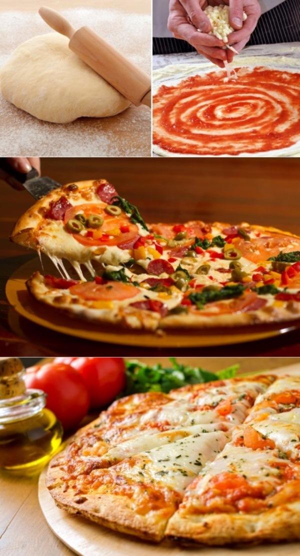 Рецепт тонкого и мягкого теста для пиццы «Как в пиццерии»