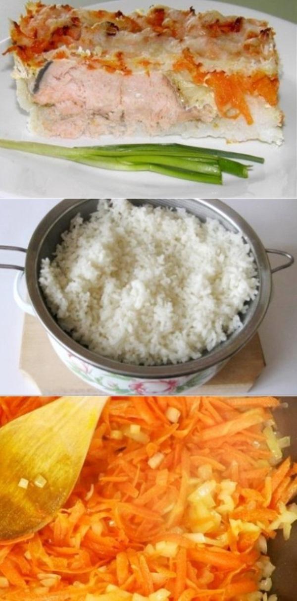 Рисовая запеканка с горбушей переплюнет все за столом. Обалденный вкус.