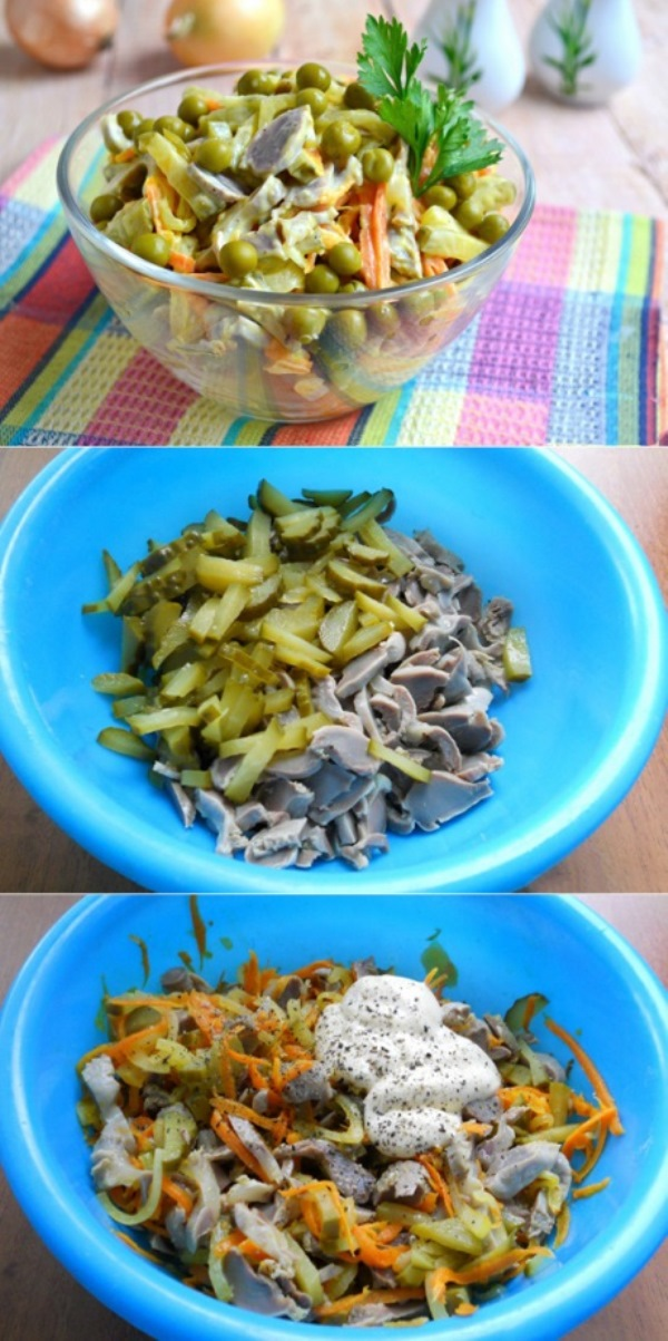 Салат из куриных желудочков обошел даже оливье! Гости млеют!