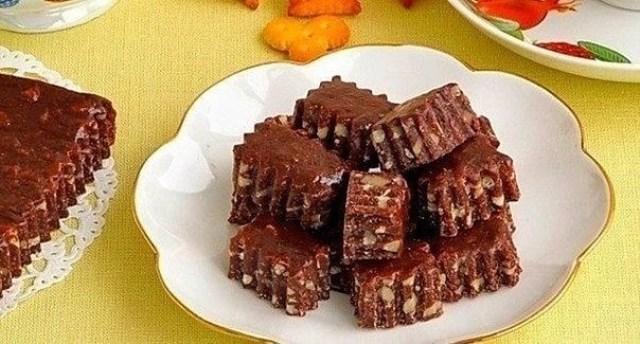 Новый рецепт. Шоколадно-ореховые тянучки. Настоящее шоколадное объедение.
