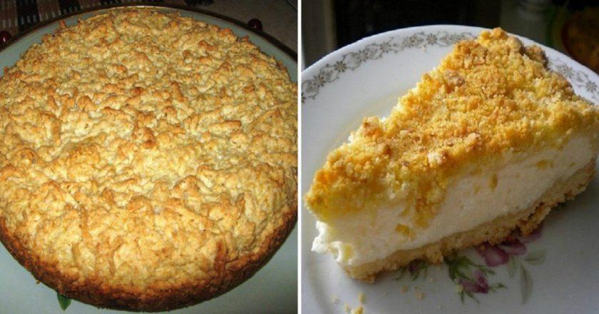 Тот самый тертый пирог с творогом затмит любую шарлотку: пышная вкуснятина прямиком из детства.
