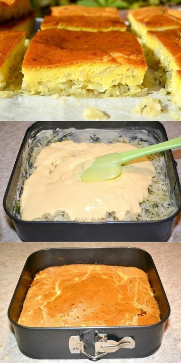 Заливной пирог с капустой понравится ВСЕМ! Муж в восторге!