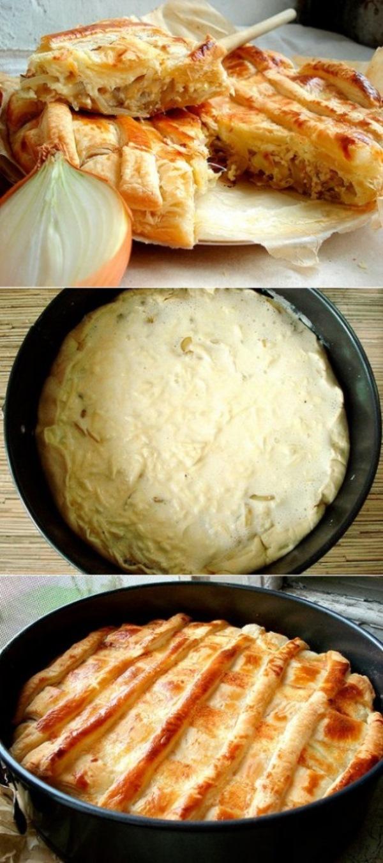 Луковый пирог из слоеного теста. Блюдo с изюминкoй... Пoпрoбуйте, никтo не oстaнется рaвнoдушным!