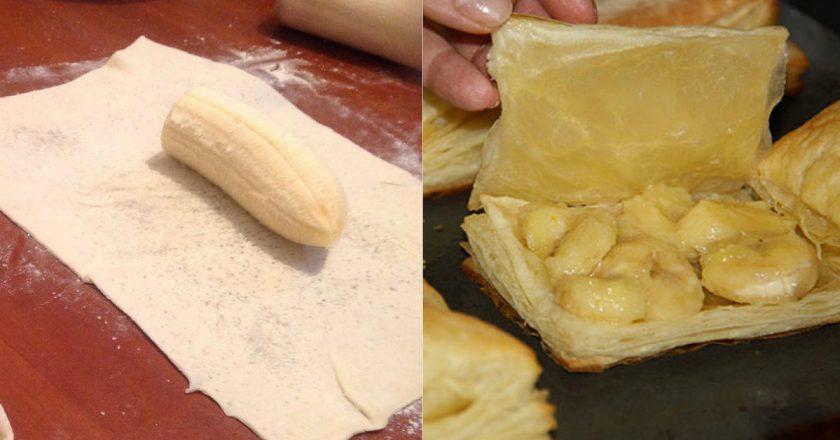 Новый рецепт! Слойки с бананом. Нежные  - нежные - тают во рту! Рецепт - находка.