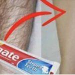 Зубная паста способна удалить нежелательные волосы