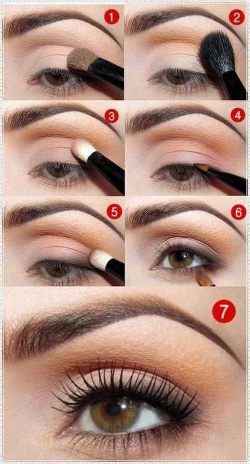 Естественный макияж для карих глаз