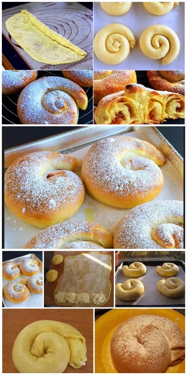 Вкуснота и красота — испанские булочки «Ensaimadas»