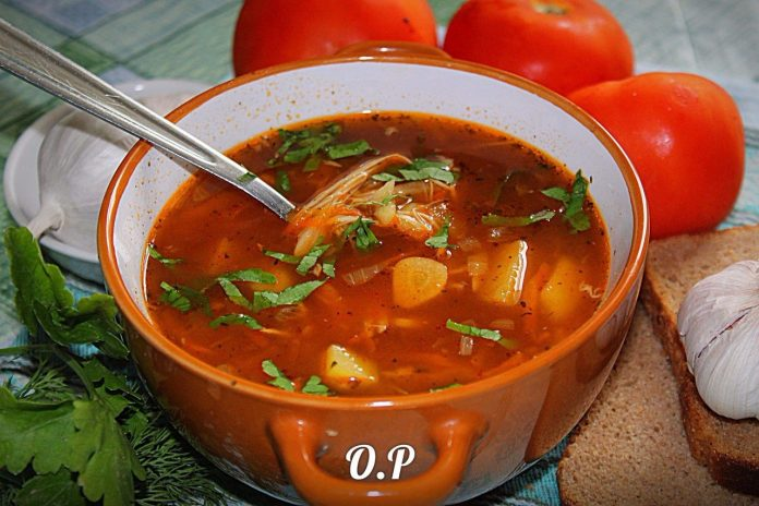НА ВТОРОЙ ДЕНЬ ОТ СУПА ОСТАЕТСЯ ПУСТАЯ КАСТРЮЛЯ: ХОТЬ И ПИТАТЕЛЬНЫЙ, НО ОЧЕНЬ ЛЕГКИЙ чесночный суп.