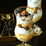 Трайфл с бананами и кофе (английский традиционный десерт).