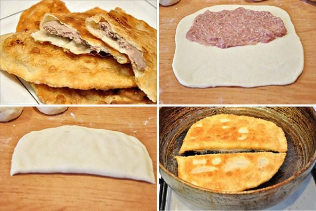 Чебуреки с мясом (очень удачное хрусткое тесто!) Перепробовала много рецептов и нашла свой 'идеальный'.