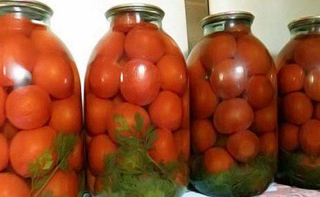 Необыкновенные помидоры на зиму