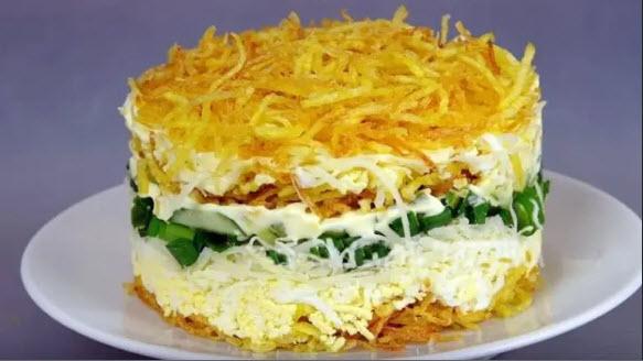 Ещё НИКТО НЕ ОТКАЗАЛСЯ от добавки! Салат с картофелем пай