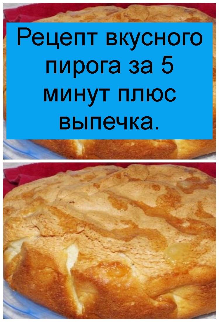 Рецепт вкусного пирога за 5 минут плюс выпечка 4