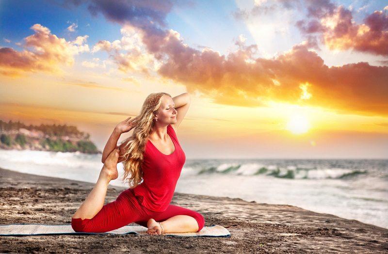 yoga-at-sunset-beach